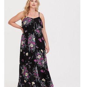 TORRID black floral hacci maxi dress!